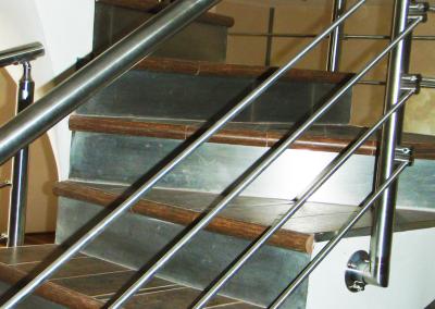 Paramano in acciaio inox per scala