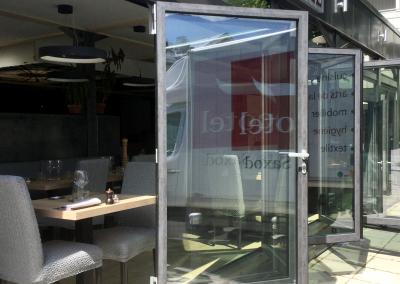 Veranda in alluminio per ristorante